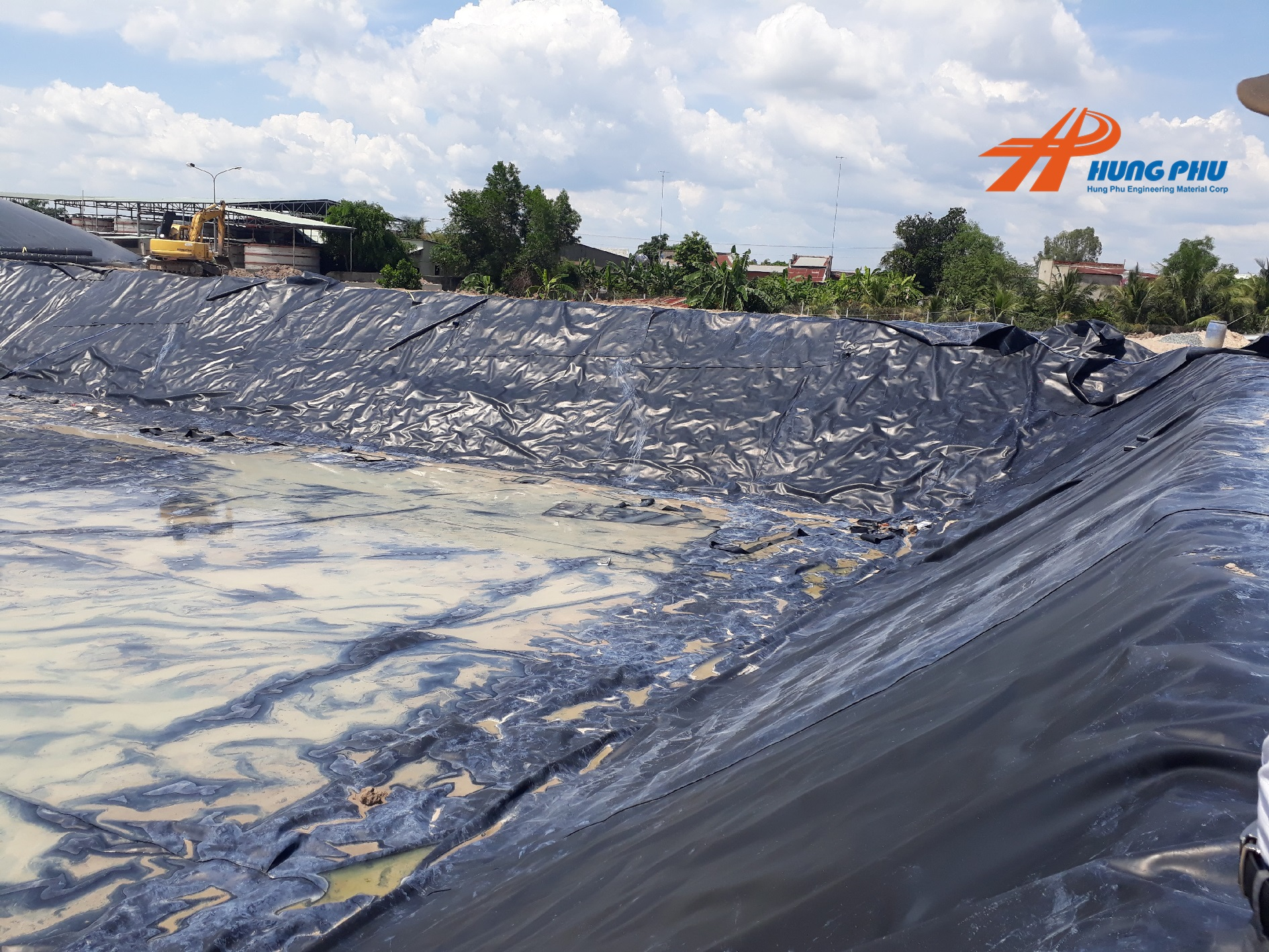 Giải pháp làm hầm biogas phủ bạt nhựa HDPE