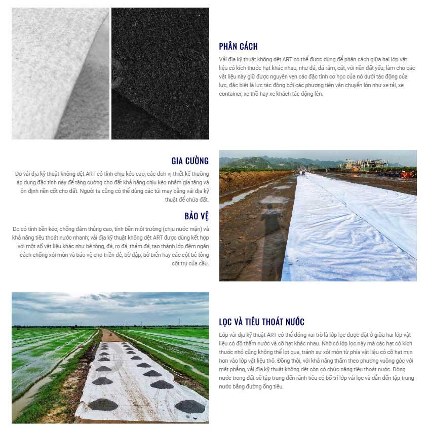 Báo giá vải địa kỹ thuật ART